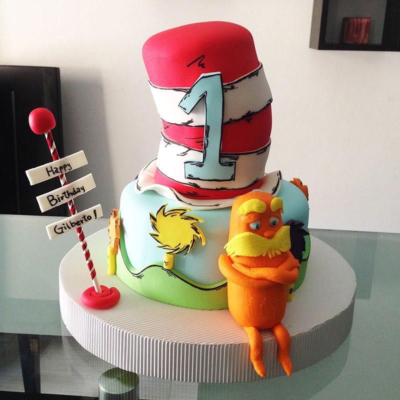 Torta Dr Seuss, Lorax en Envigado, Dulcepastel.com