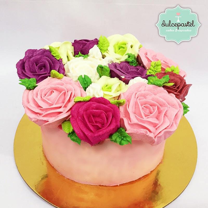 Torta de Flores en Envigado, Dulcepastel.com