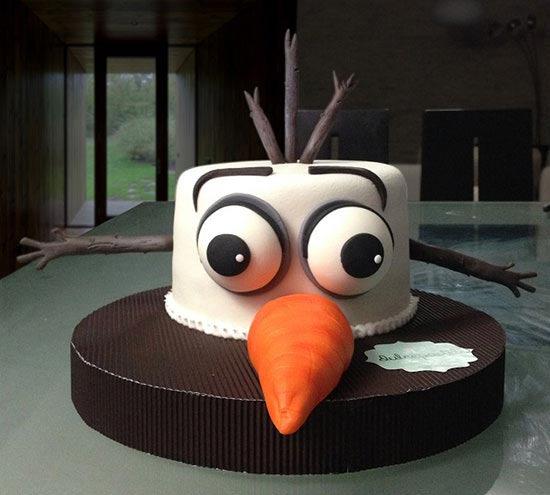 Torta de Olaf, Frozen, en Envigado, Dulcepastel.com