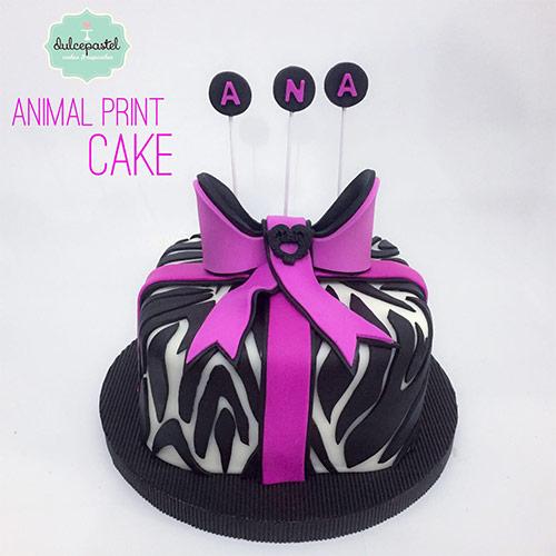 torta animal print envigado medellin