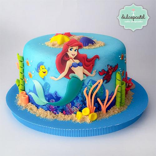 torta pequeña sirenita medellin envigado dulcepastel