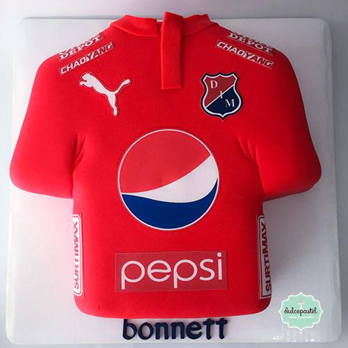 torta camisa deportivo medellin envigado dulcepastel
