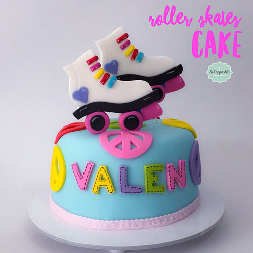 torta patines soy luna medellin dulcepastel