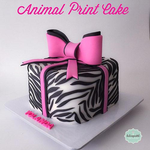 torta animal print medellin envigado dulcepastel