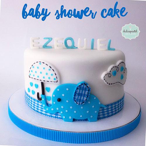 torta baby shower niño medellin envigado