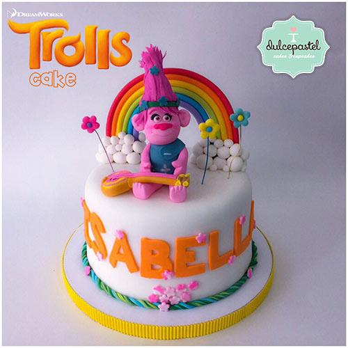 torta trolls poppy medellin envigado dulcepastel