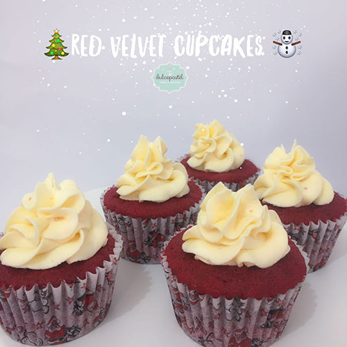 cupcakes red velvet navidad medellin envigado dulcepastel