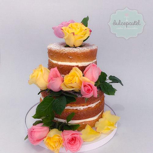 torta flores naturales medellin duclepastel