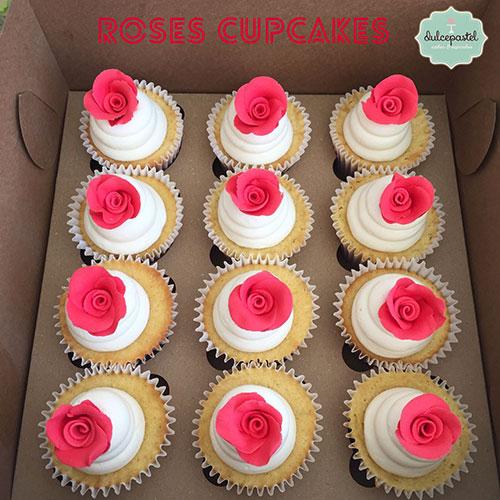 cupcakes rosas medellin dulcepastel