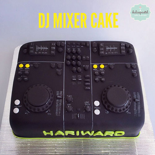 torta consola dj medellin dulcepastel