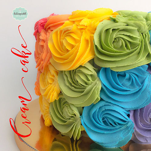 torta arcoiris medellin dulcepastel