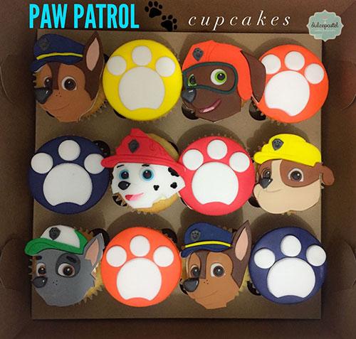 cupcakes patrulla canina medellin dulcepastel