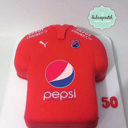 torta camisa deportivo independiente medellin dulcepastel