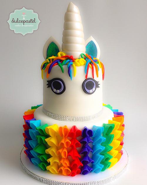 torta unicornio medellin dulcepastel