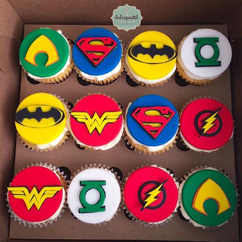 cupcakes cuperheroes liga justicia medellin dulcepastel