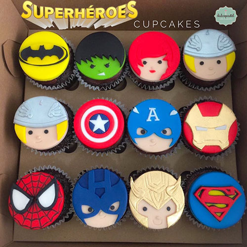 cupcakes superheroes medellin dulcepastel