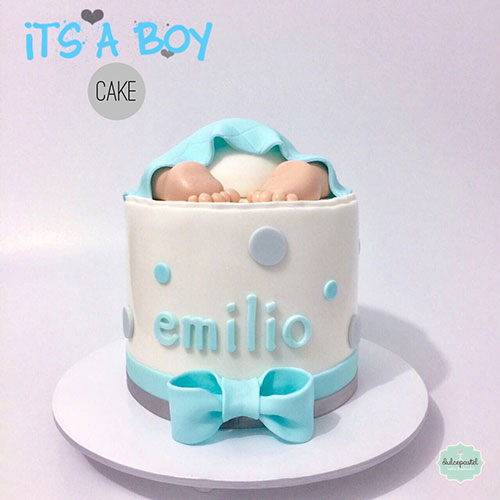 torta baby shower envigado dulcepastel