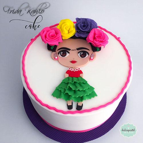 torta frida kahlo medellin dulcepastel