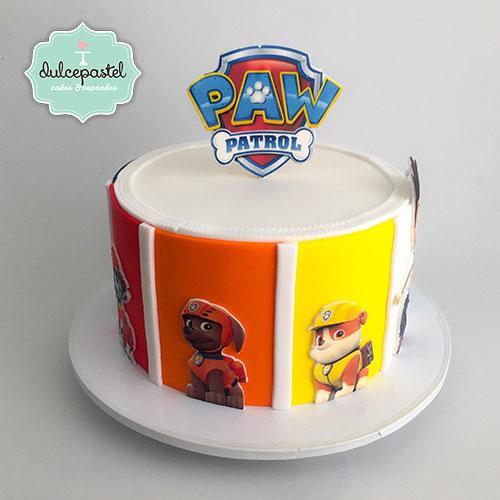 torta paw patrol envigado dulcepastel