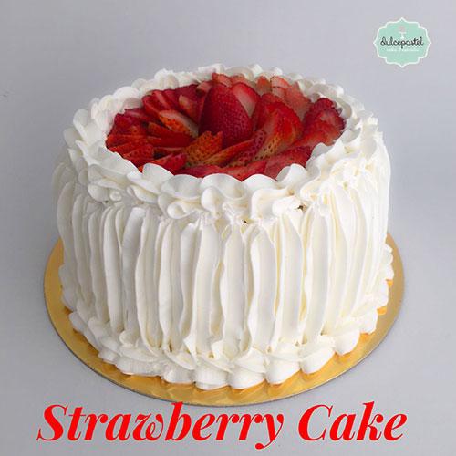 deliciosa torta fresas medellin dulcepastel