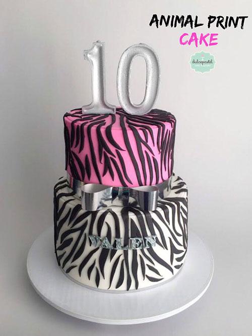 torta animal print medellin dulcepastel