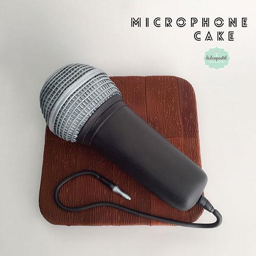 torta microfono medellin dulcepastel