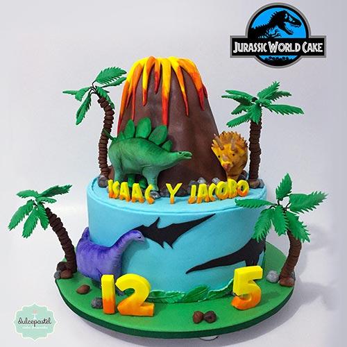 torta dinosaurios medellin dulcepastel