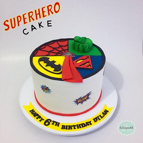 torta superheroes medellin dulcepastel