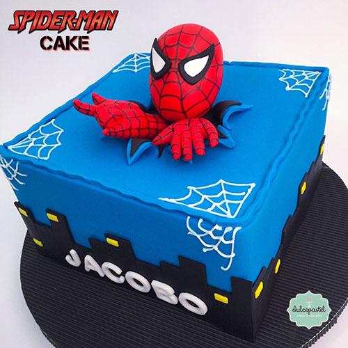 spiderman cake medellin dulcepastel