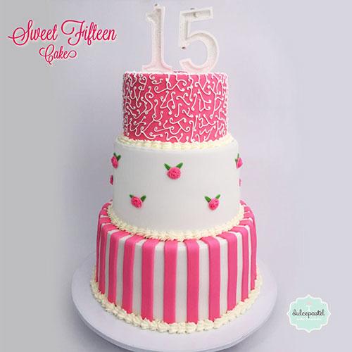 torta 15 años medellin dulcepastel