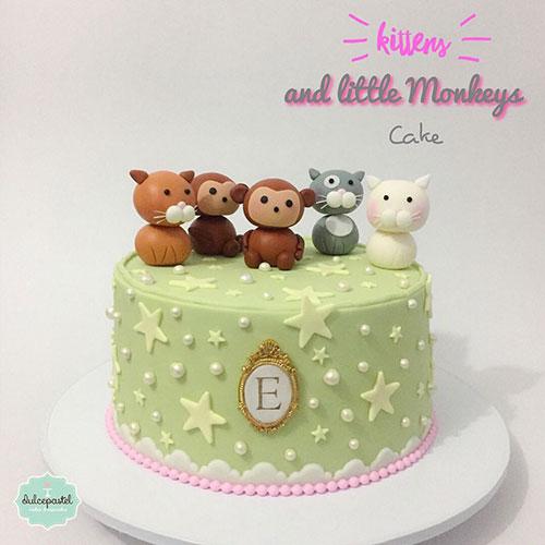 torta gatitos miquitos medellin dulcepastel