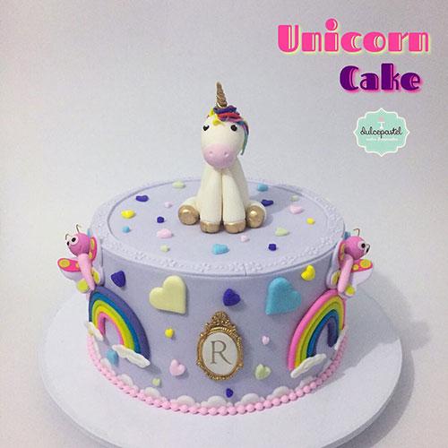 torta unicornio infantil medellin