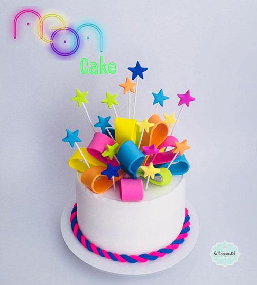 torta neon medellin dulcepastel