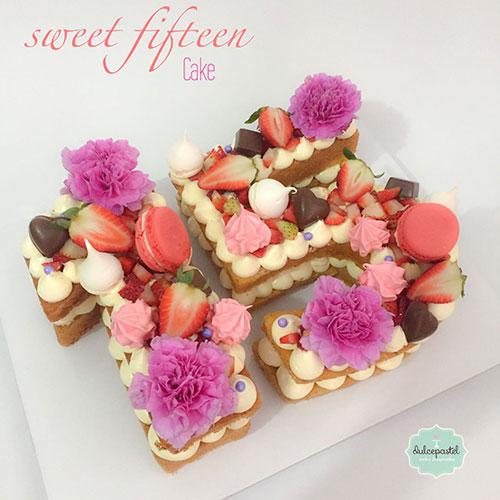 torta numero flores medellin dulcepastel