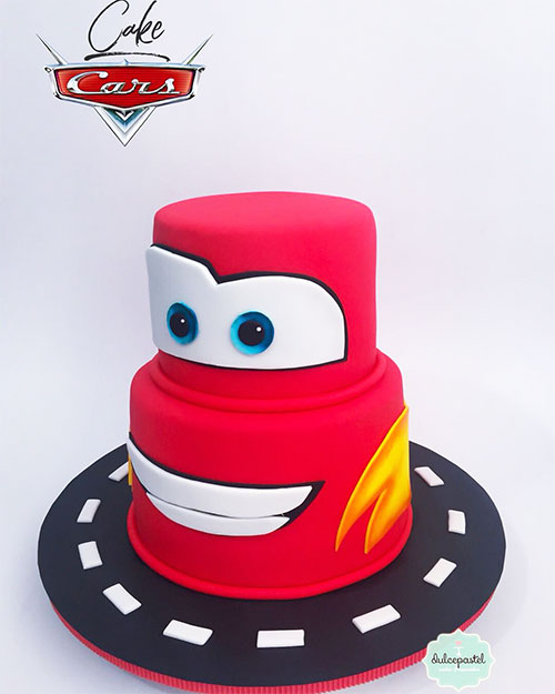 torta rayo mcQueen medellín dulcepastel