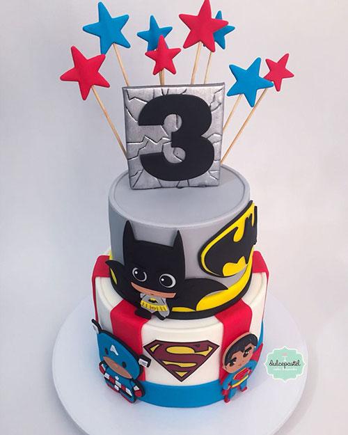 torta superheroes babies medellín
