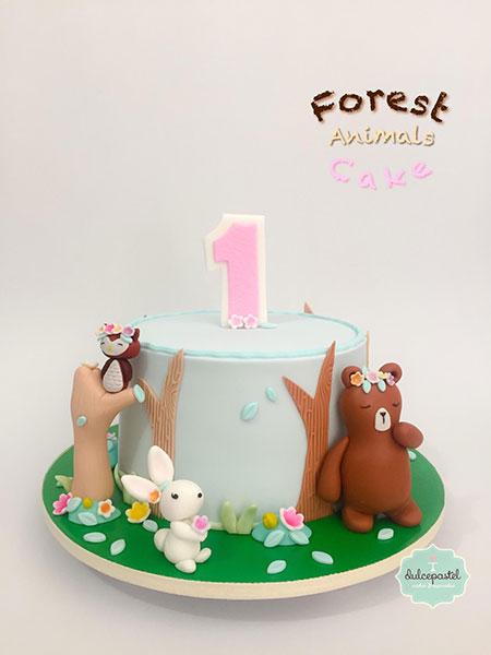torta animales bosque medellin dulcepastel