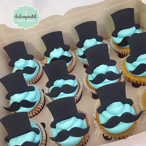 cupcakes baby shower niño medellin