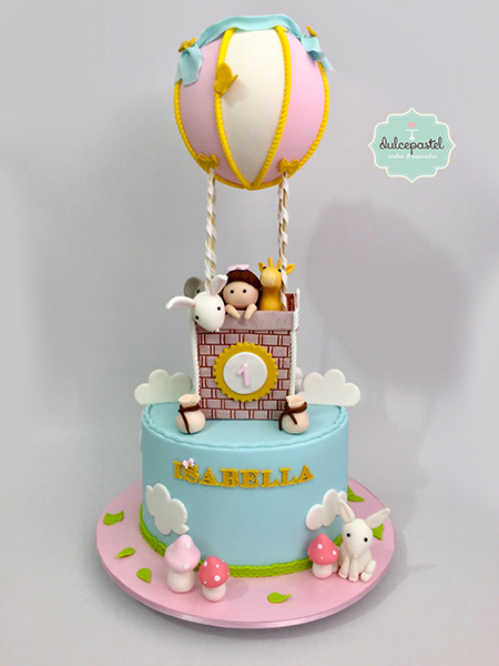 torta globo aerostatico medellin dulcepastel
