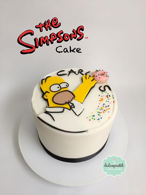 torta homero simpsons medellin dulcepastel