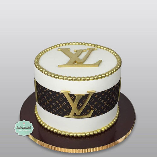 tutorial logo louis vuitton fondant