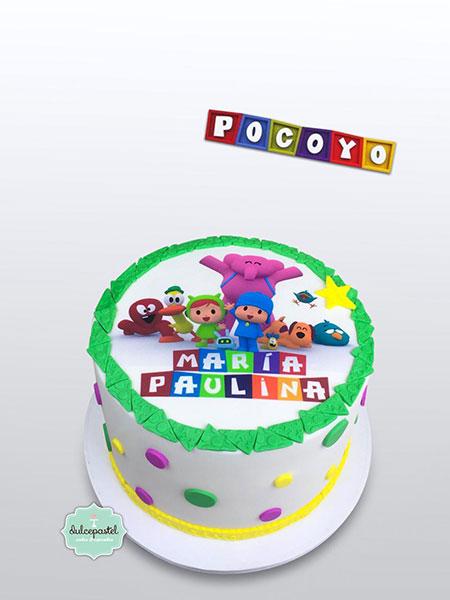 torta pocoyo medellin dulcepastel