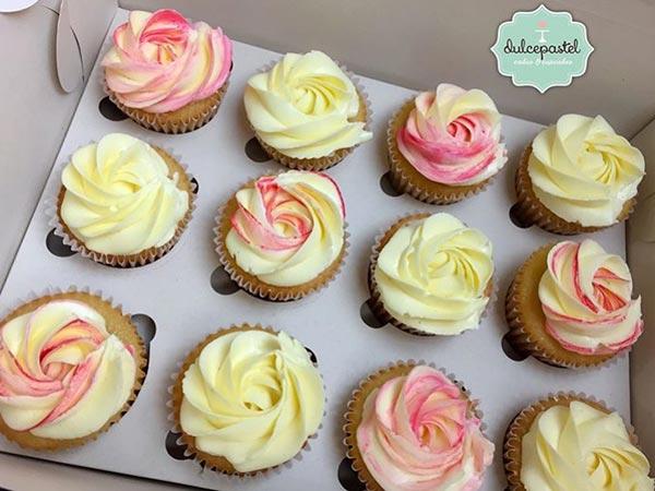 cupcakes bicolor medellin dulcepastel