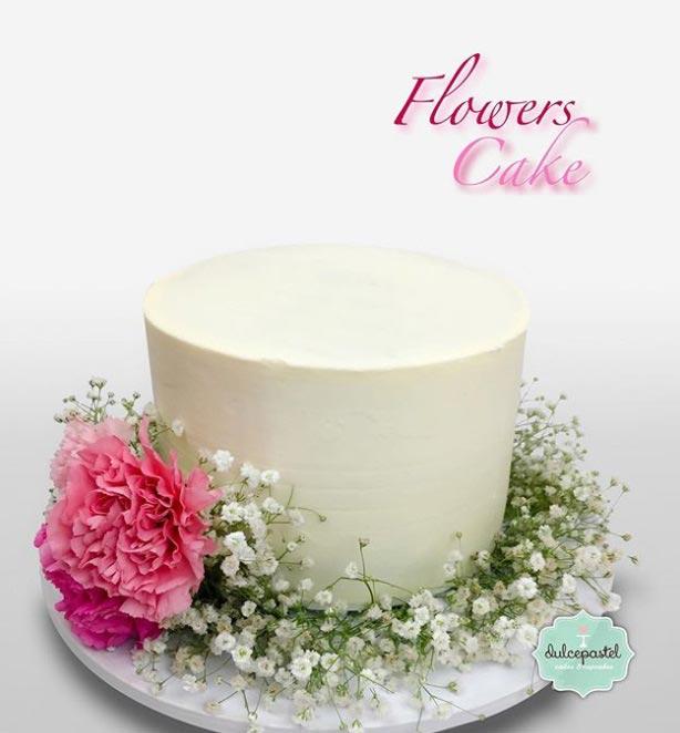 torta flores pequeña medellin dulcepastel