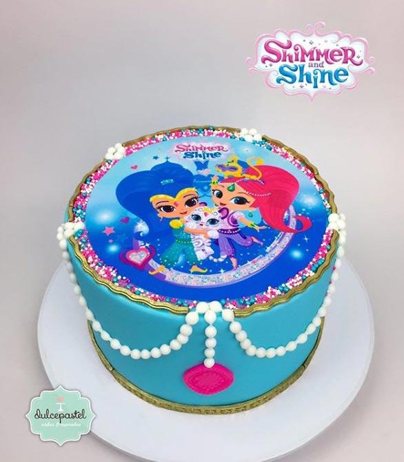 torta shimmer shine medellin dulcepastel