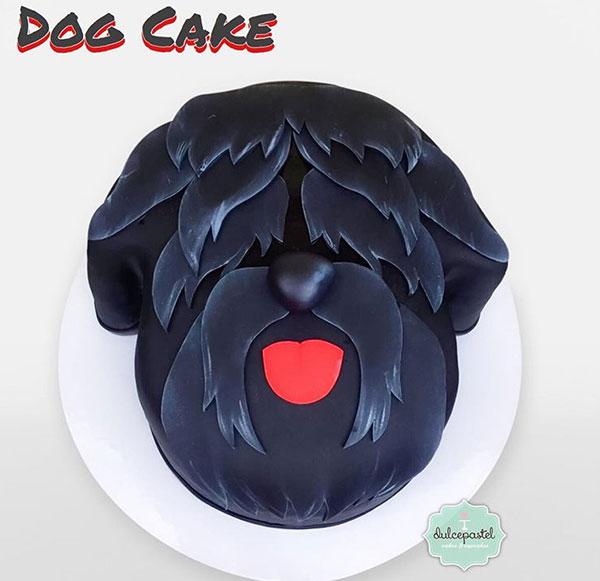 torta black russian terrier medellin dulcepastel