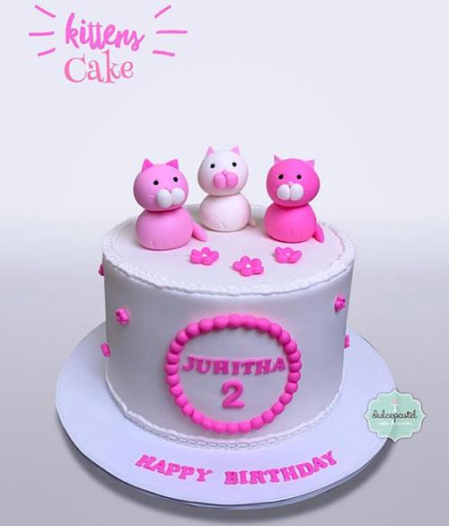 torta gatitos medellín dulcepastel.com