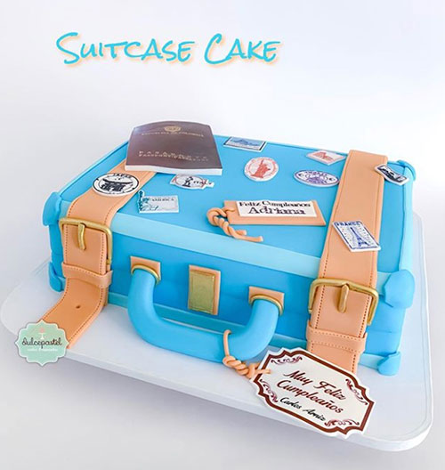torta maleta viajera medellin dulcepastel