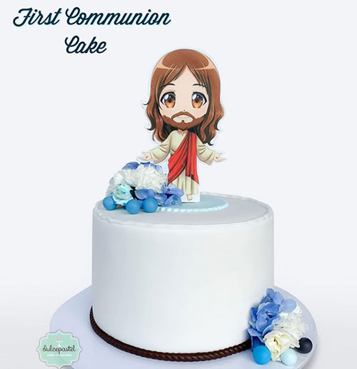 torta primera comunión envigado dulcepastel