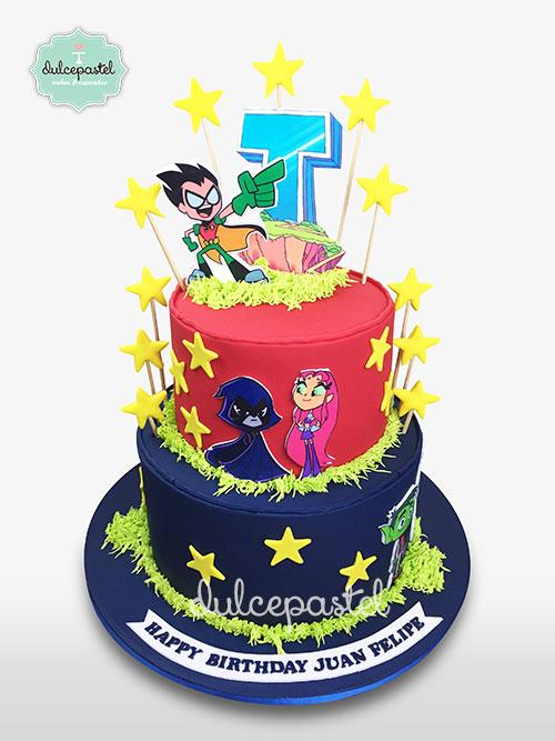 torta-teen-titans-medellin-dulcepastel